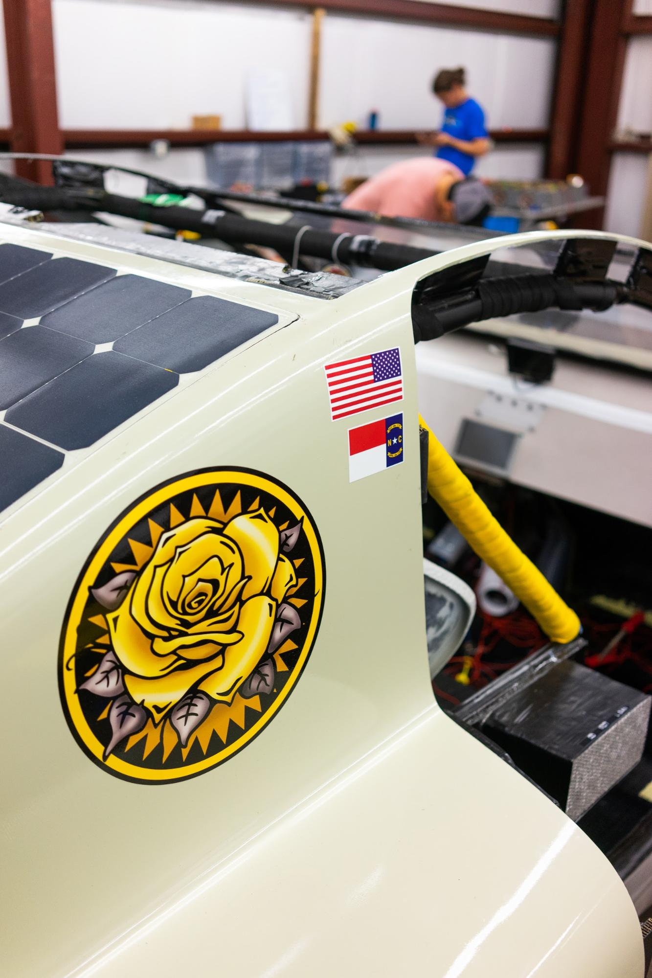 Asc 2018 Team Sunergy Appalachian State University Joy Long Van Electrical Fuse Box The Is Still Finishing Up Final Touches On Car Before Inspections Begin Work